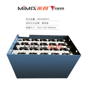 【天能蓄电池】搬易通48V600叉车电瓶组米玛电动叉车蓄电池