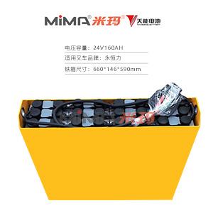 【天能叉车电池】永恒力电动叉车电瓶组24V2pzb160蓄电池