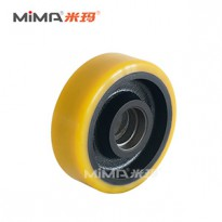 搬易通轮子配件米玛承重轮电动叉车辅助轮堆高车平衡轮150x50