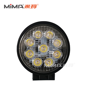 搬易通电动叉车前灯配件圆形9珠LED大灯DJ-ZM-01PJ